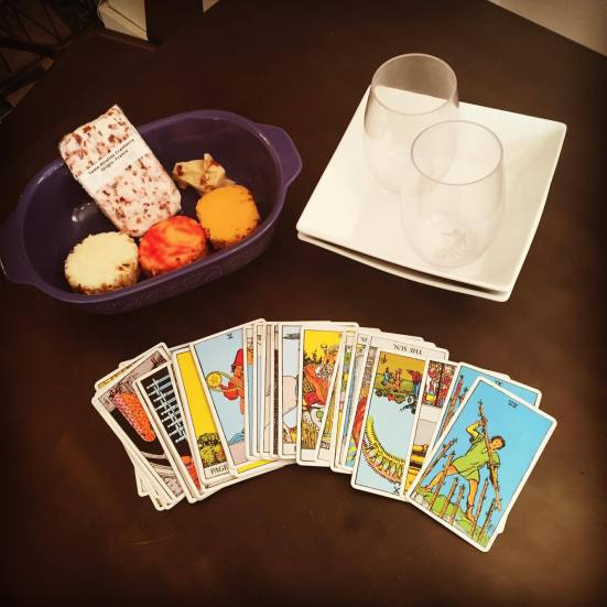 Cheese and Tarot await two single psychics.